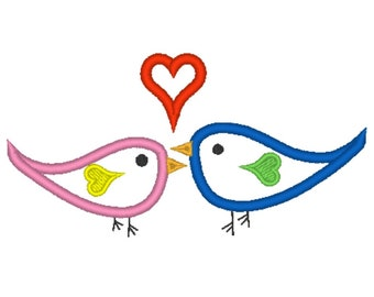 Little Love Birds Applique Embroidery