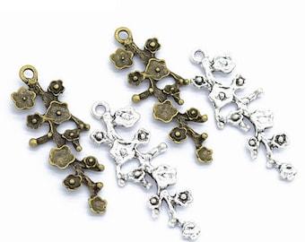 20pcs Hollow Out Heart 22x21mm Beads Pendant Earring Bracelet Findings Craft
