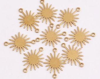 Brass pendant 27.5x0.5mm Triangle raw brass earrings findings Geometric woven pattern charms R934