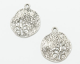 100pcs dark silver tone owl charms h3182
