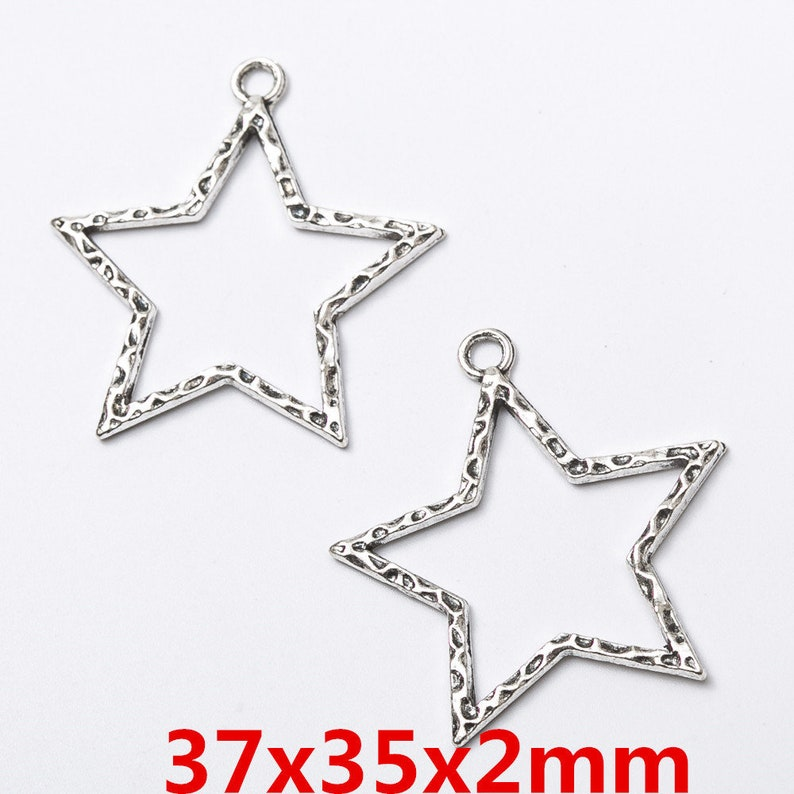 20pcs Antique Bronze Alloy Star Spider Shaped Pendants Charms Jewelry Making