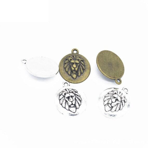 50 Vintage Metal Bead Frames Charms 12x16mm Findings DIY Jewelry Accessories