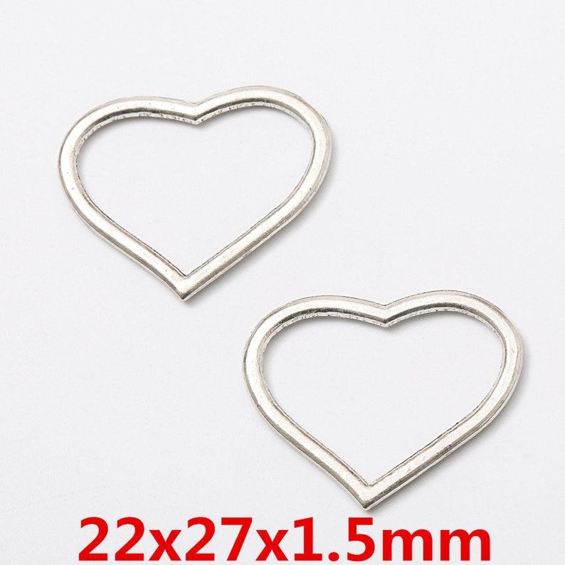 Wholesale 100 pcs Antiqued Silver Alloy Hollow Love Heart Charms Pendants Crafts