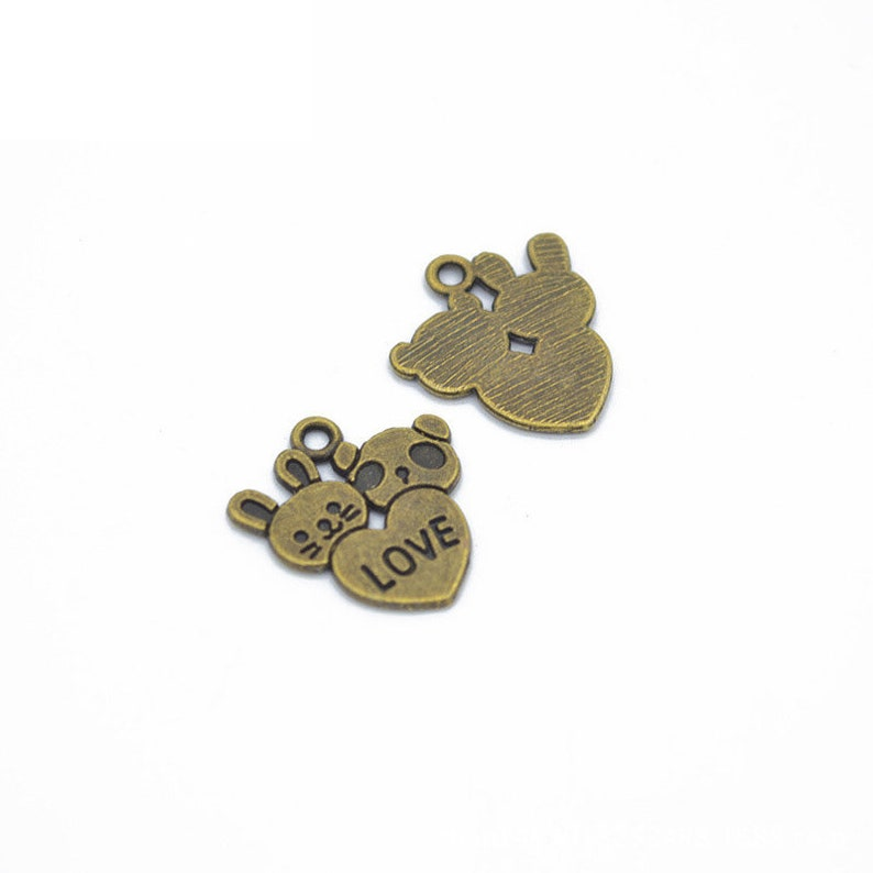 DIY Supplies,Jewelry Making Findings 70pcs 20x18mm Antique SilverAntique Bronze Love Heart Pendant Charms,Love Necklace Cute Jewelry A26