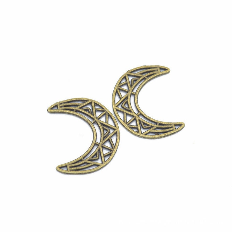 Alloy Small Pendant DIY Supplies 35pcs 33x26mm Antique BronzeAntique Silver Moon Pendant,Lovely Sky Charm Jewelry Making Findings,L608