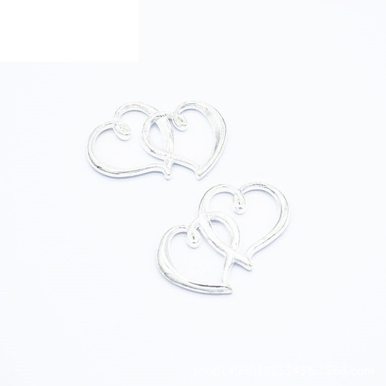 40pcs 31x25mm Antique SilverAntique BronzeSilver Gold Love Heart Pendant Charms Jewelry Making Findings Cute Jewelry,DIY Supplies A14