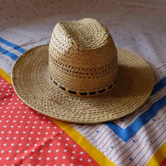 Vintage Penney's Straw Panama Hat