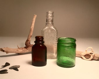 3 Small Vintage Bottles