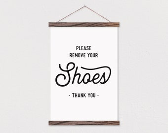 photograph about Please Remove Your Shoes Sign Printable Free named Get rid of footwear indication Etsy
