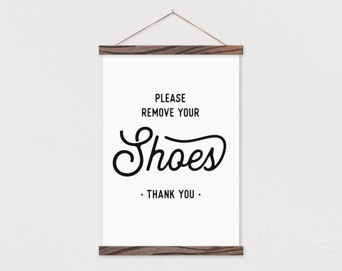 Remove Shoes Canvas Print- Custom Frame- Entryway Sign- stretched Canvas- Canvas Print-remove shoes sign- new home gift