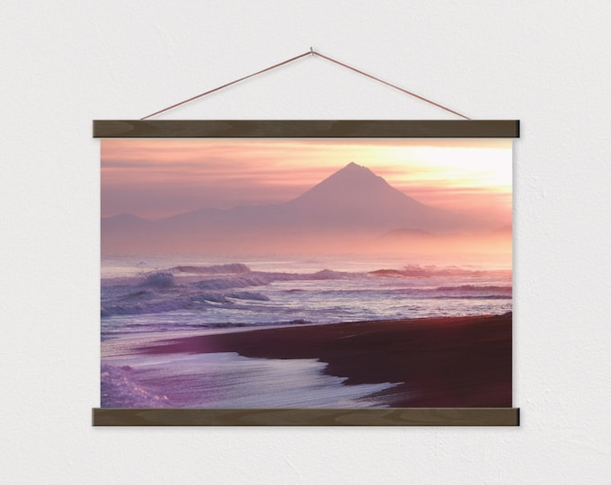 Surf & Turf Canvas Print with Real Wood Magnetic Poster Hanger