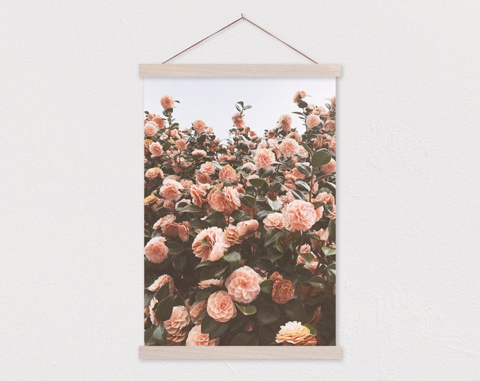 -Sweet Camellia Canvas Print with Wood Magnetic Poster Hanger
