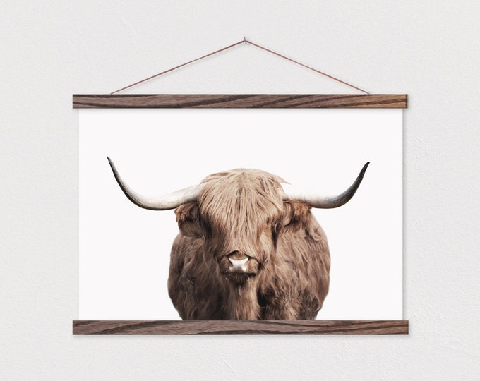 Yak Canvas Print with Wood Magnetic Frame Sticks