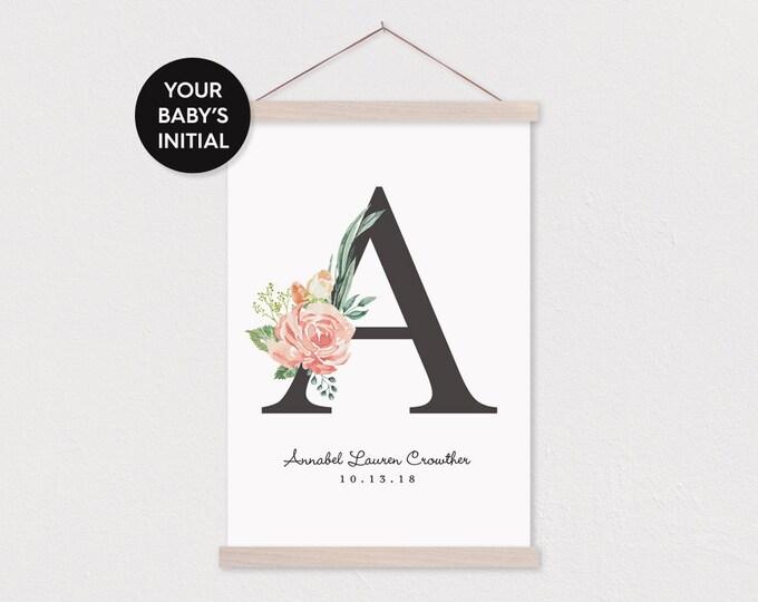 Alphabet Canvas Print with Frame Sticks
