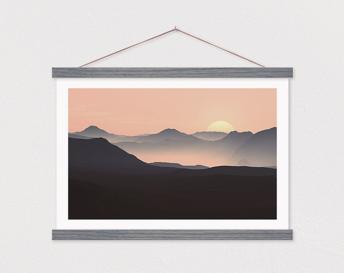 Sunrise Contrast - Mountain Art Print Framed ART