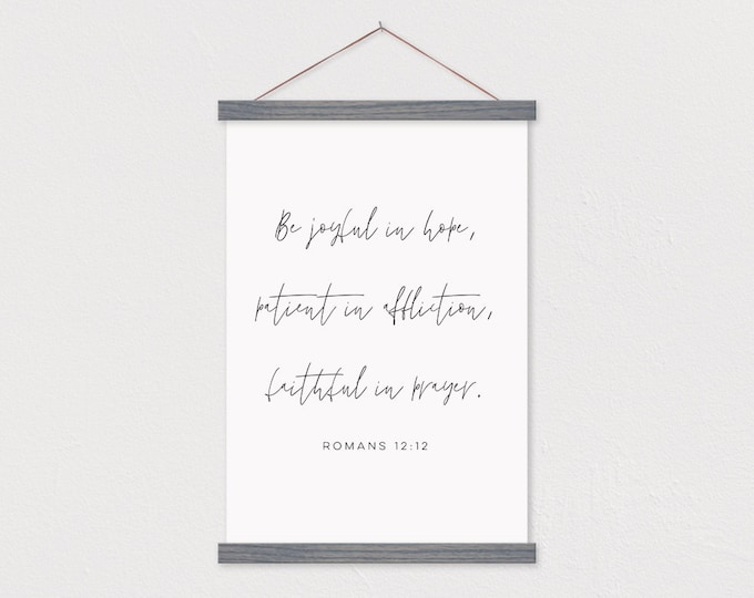 Be Joyful Bible Verse Canvas Print with Wood Frame Sticks