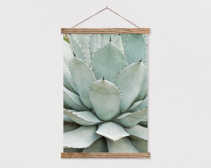 Native Succulent Canvas Print with Wood Magnetic Poster Hanger