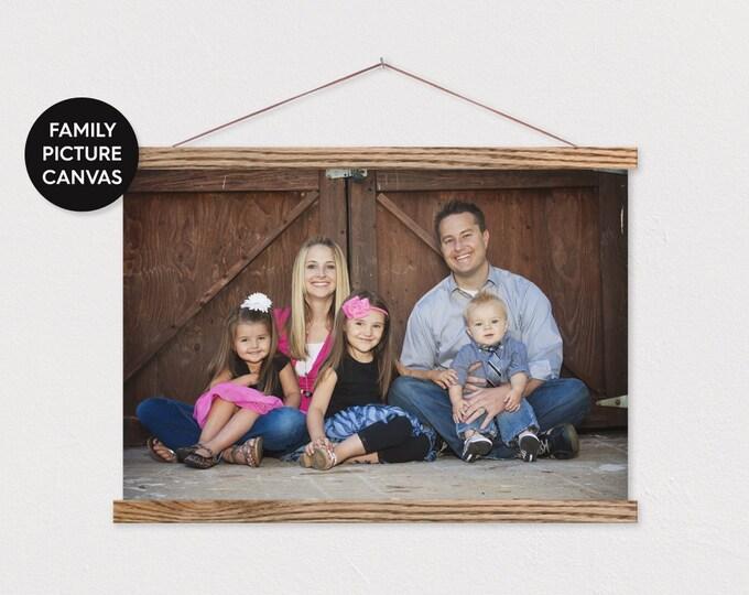 Family Portrait Canvas Pix Photo - Landscape or Portrait ART