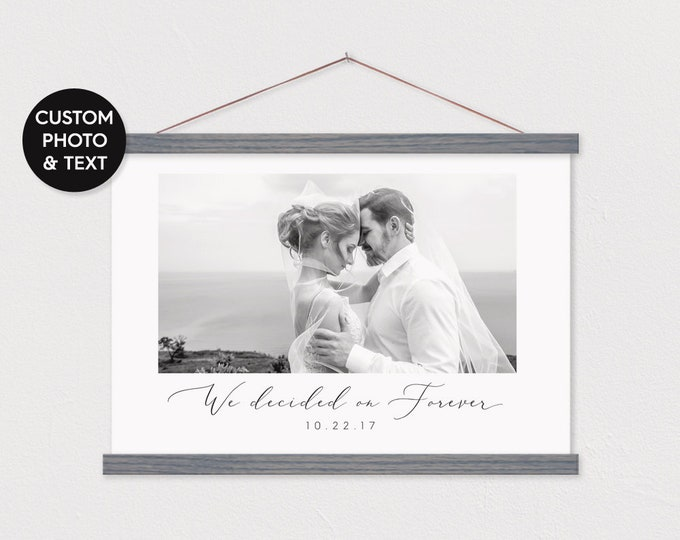 We Decided on Forever - Wedding Photo & Anniversary Date and Pix - Canvas Present ART