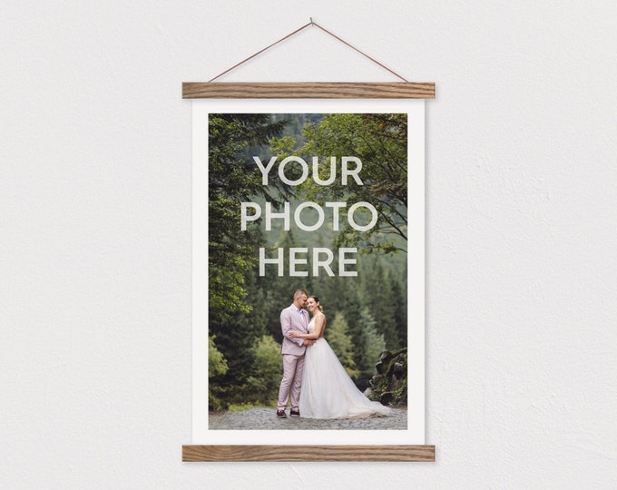 Custom Canvas Print with Magnetic Wooden Hanger Frame-PIX