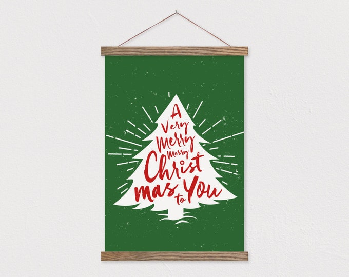 Christmas Tree Wall Decor - Hanging Canvas