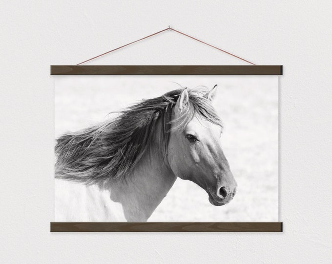 Wild Horse Canvas Print with Wood Magnetic Poster Hanger