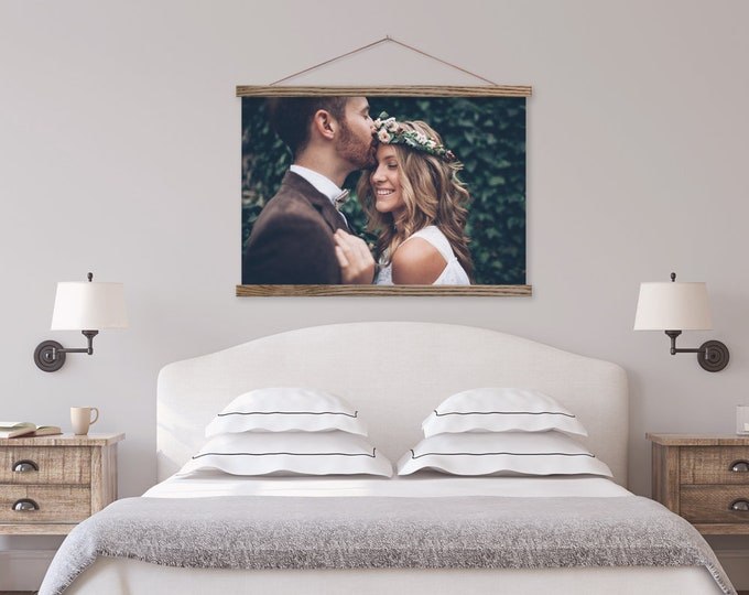 Wedding Canvas Landscape with Wood Hanger Frame ART