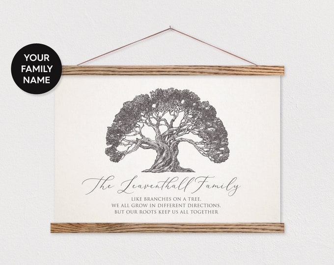 Family Tree Customized Hanging Canvas Pix with Magnetic Hanger Frames ART