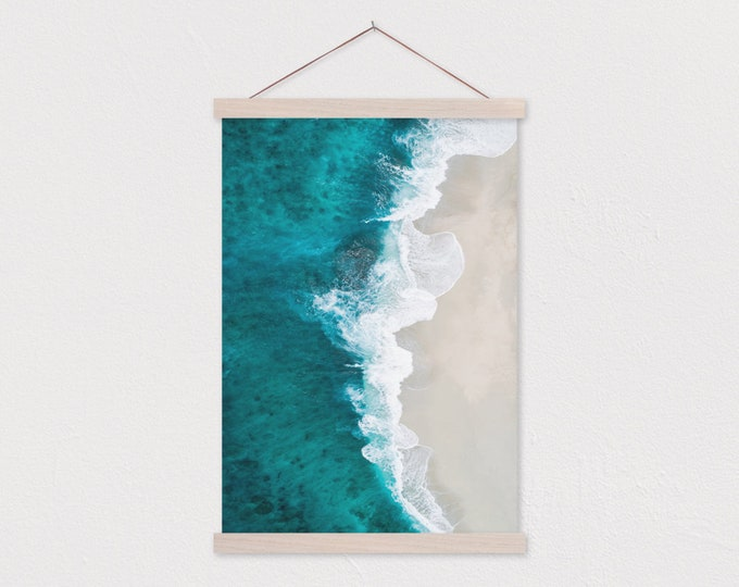 Shoreline Escape Canvas Print with Real Wood Magnetic Poster Hanger