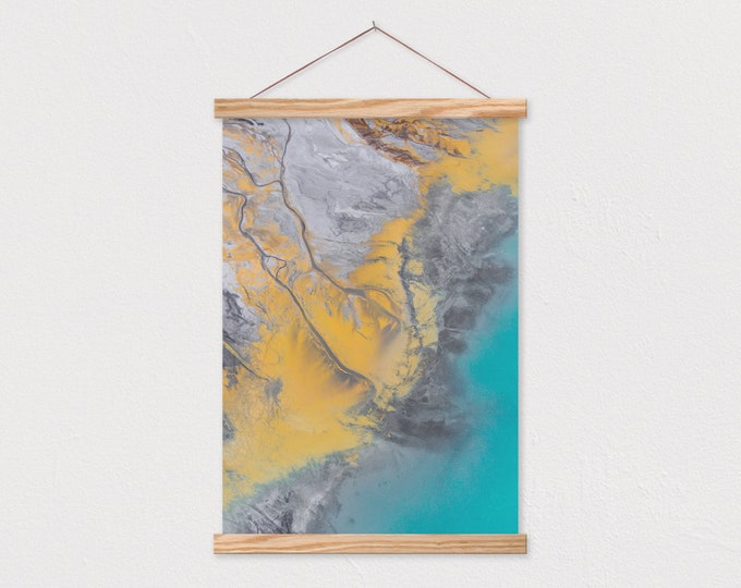 Gold Sediment Canvas Print with Wood Magnetic Poster Hanger