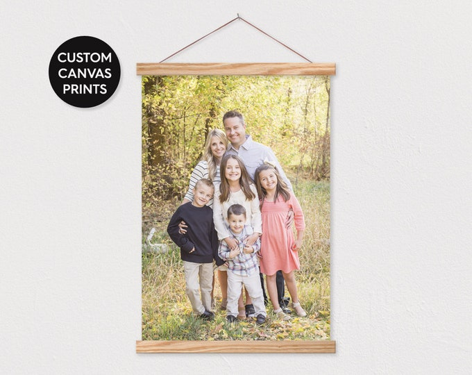 Custom Canvas Printing Pix or text with Wood Frame