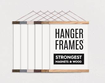 Wooden Poster Hanger Etsy