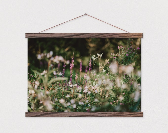 Wildflower Mystery Canvas Print with Wood Magnetic Snap Frame