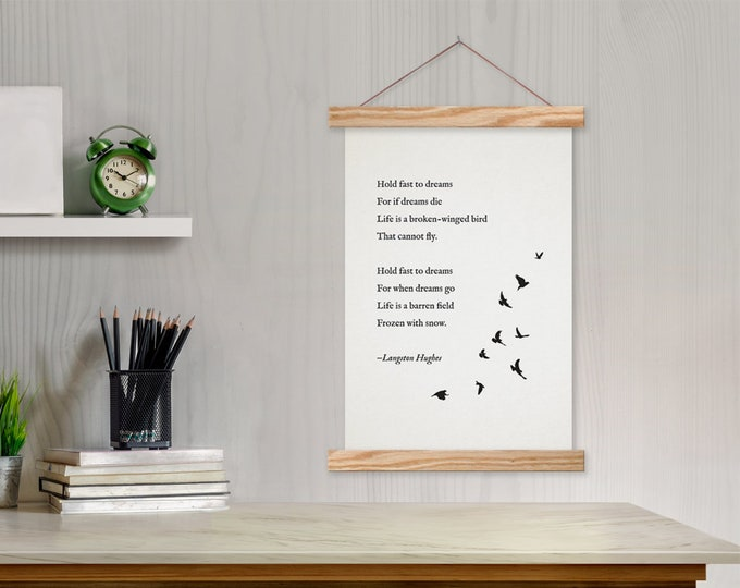 Custom Poem Gift with Bird Art - w/ Hanger Frames with any text or pix
