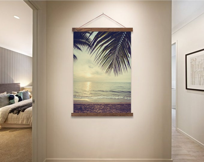 Mellow Sunset Print with Real Wood Magnetic Poster Hanger