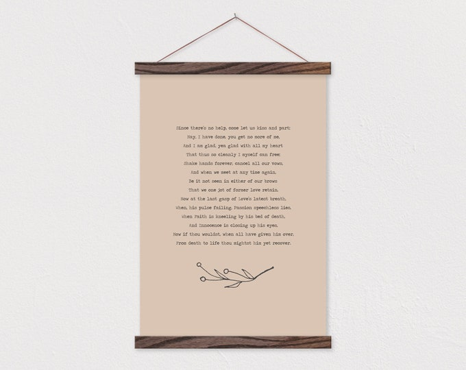 Custom Poem - Simple Bottom Branch Poem with Beige Background - We can personalize any text or pix