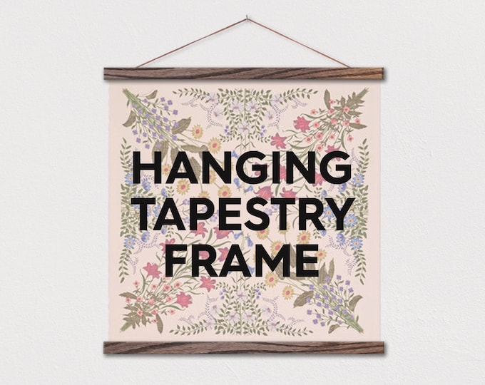 Tapestry Frame - Hanging Magnetic Wood Hanger Frames for Scarf or Fabric Tapestry