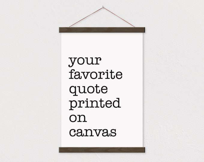 Custom Typewriter Quote Print with Wood Magnetic Poster Print Hanger