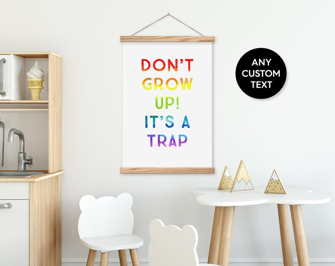 Rainbow Kids Custom Quote on Canvas Framed