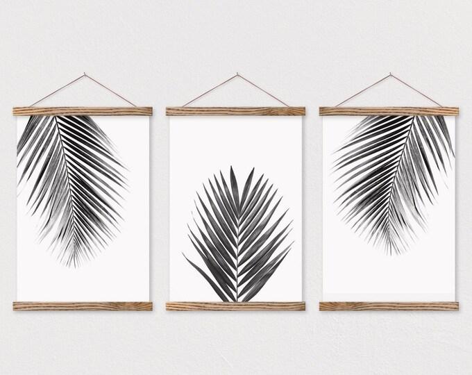 Palm Leaves Three Canvas Panels