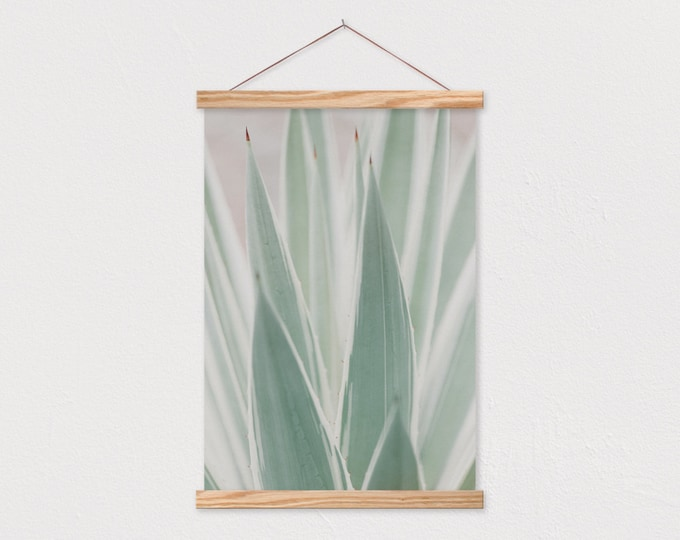 Snake Plant Printed on Canvas Print with Wood Magnetic Poster Hanger