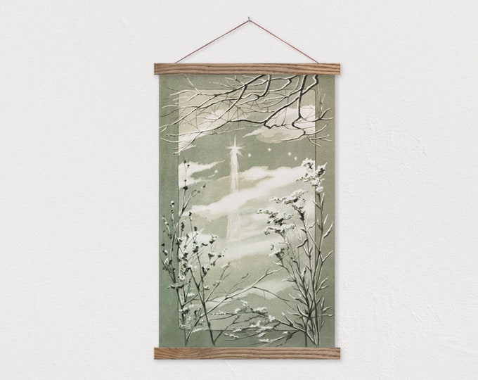 Star of Bethlehem - 1865 Christmas Painting Canvas with Frame