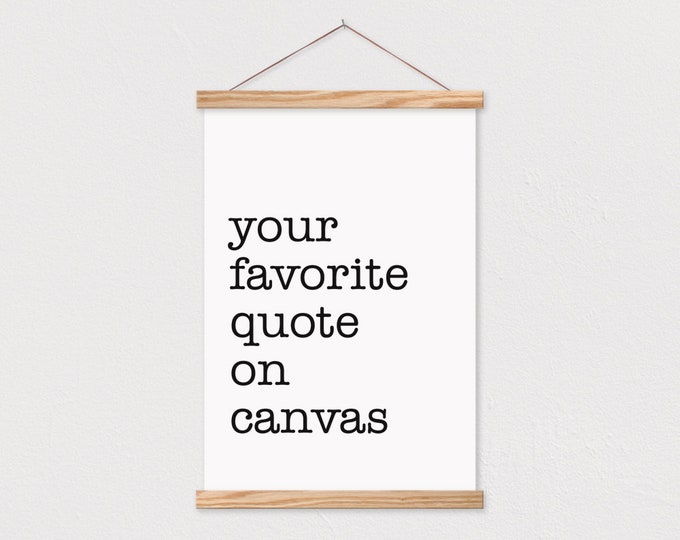 Custom Typewriter Quote Print with Wood Magnetic Poster Hanger- Custom Print Custom Quote-Your Own Words-Dorm Wall Hanging-Poster Hanger-pix