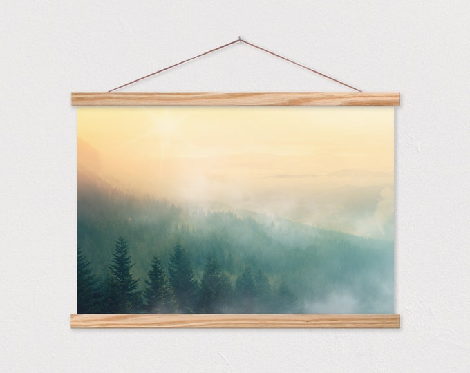 Golden Wilderness Canvas Print with Wood Magnetic Poster Hanger
