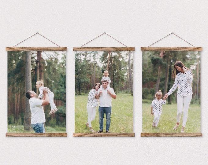 Set of 3 Canvas Pix Prints with Magnetic Hanger Frames
