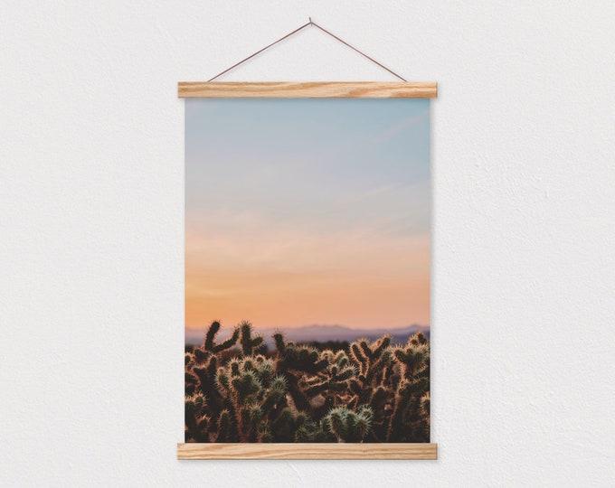 Desert at Dusk Canvas Print with Wood Magnetic Frame Sticks