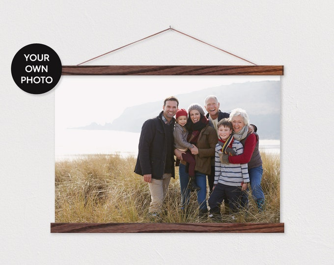 Family Landscape Horizontal Canvas Pix - with Magnetic Wooden Frame ART