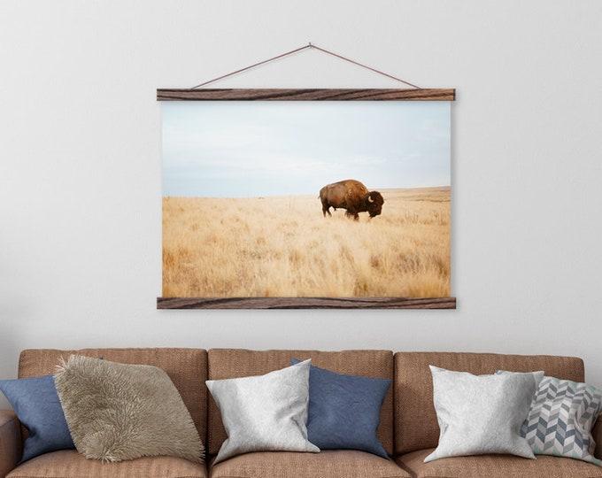 Buffalo Wall Hanging - Canvas & Hanger Frames ART
