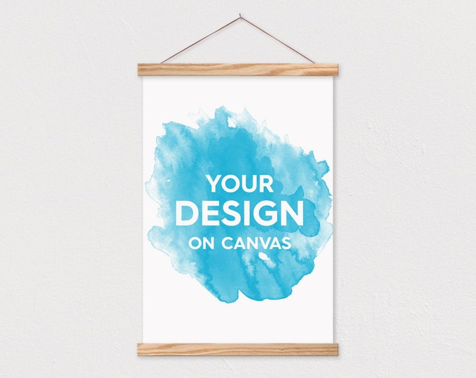 Your Design Printed on Canvas with Hanger Frame - Send us your text or pix