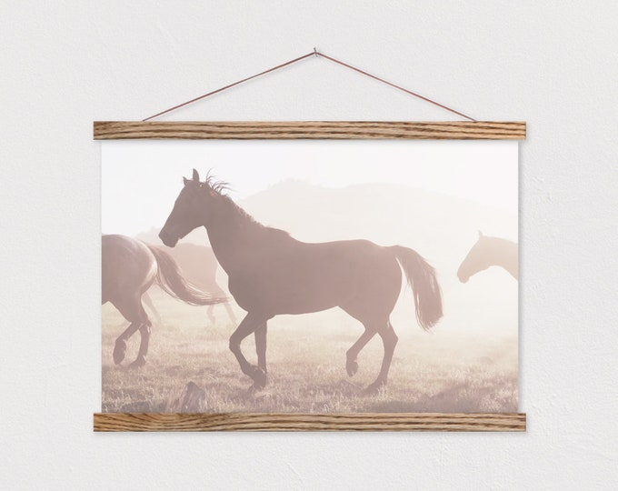 Horse Dream Canvas Print with Wood Magnetic Poster Hanger